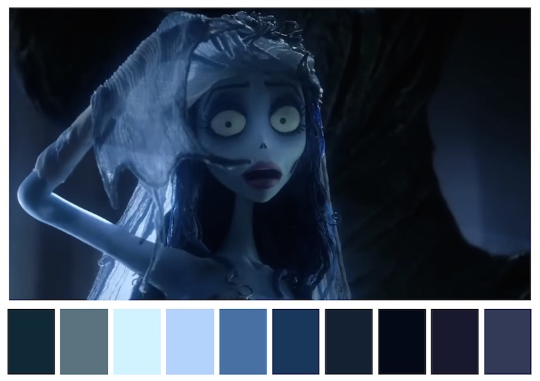 Cinema Palettes: Color palettes from famous movies - Corpse Bride