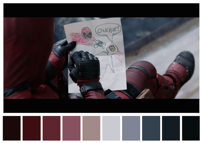 Cinema Palettes: Color palettes from famous movies - Deadpool