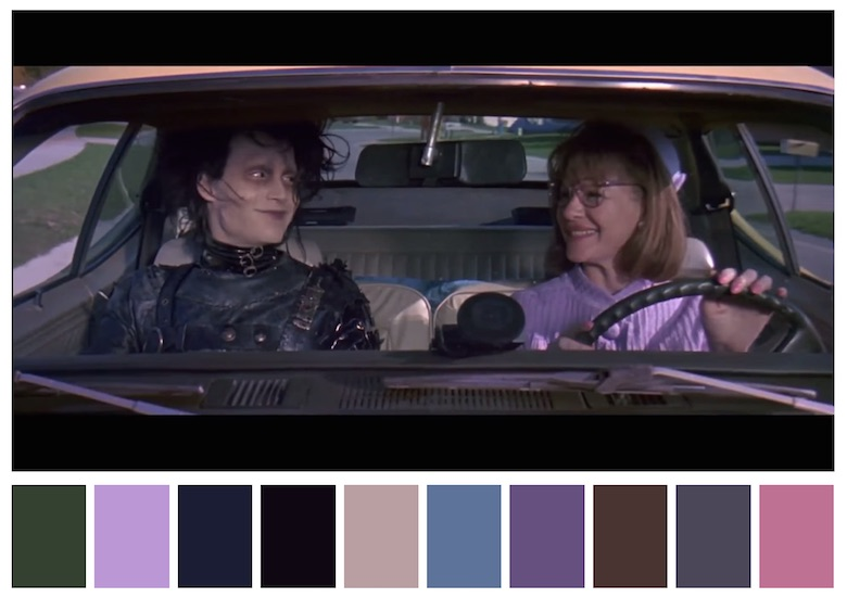 Cinema Palettes: Color palettes from famous movies - Edward Scissorhands