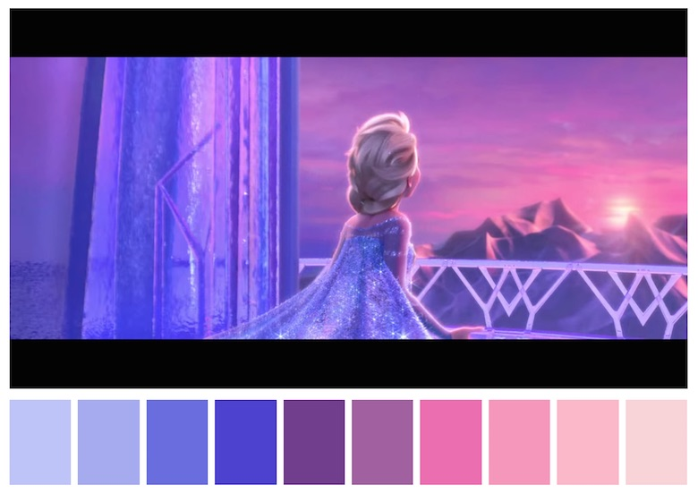 Cinema Palettes: Color palettes from famous movies - Frozen