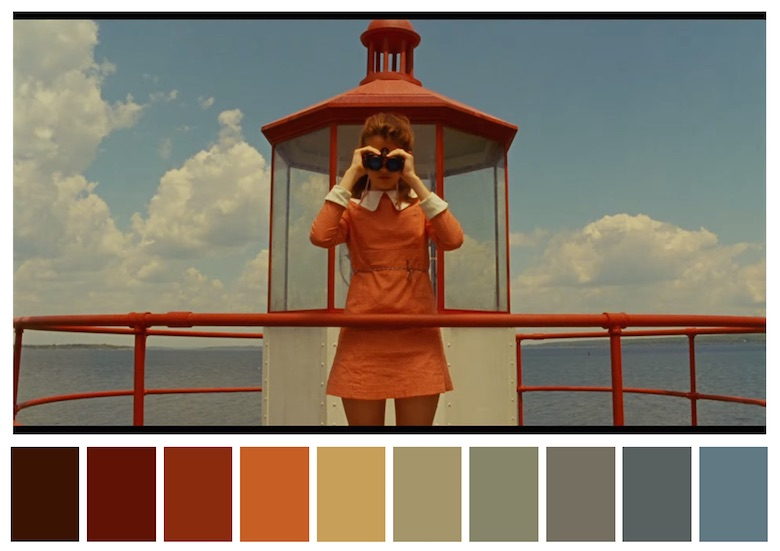 Cinema Palettes: Color palettes from famous movies - Moonrise Kingdom