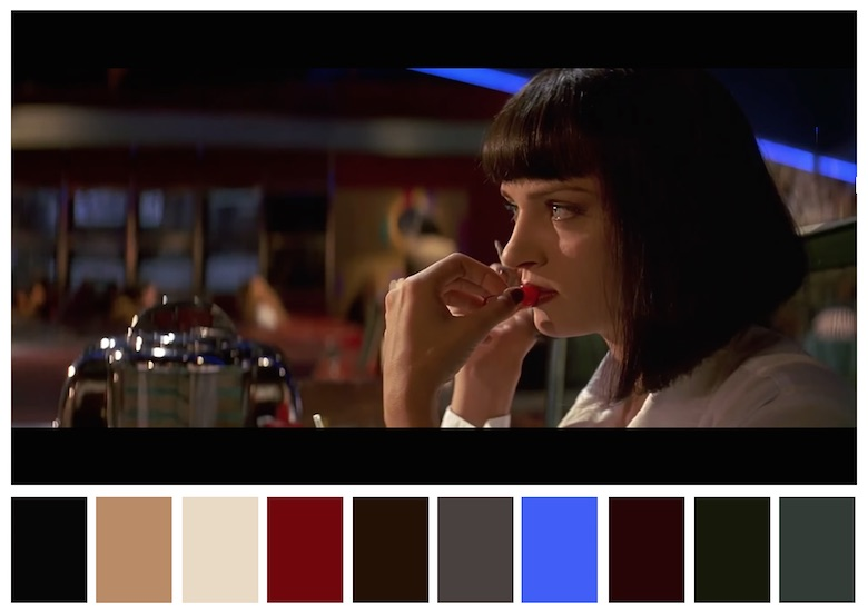 Cinema Palettes: Color palettes from famous movies - Pulp Fiction