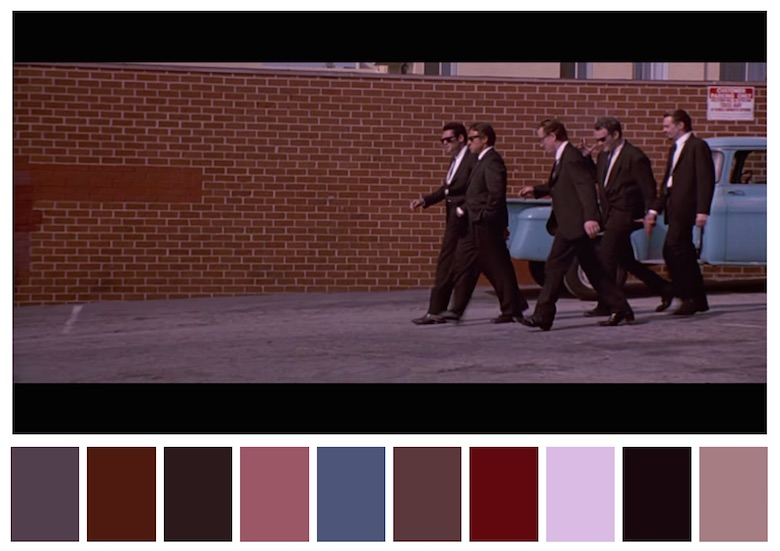Cinema Palettes: Color palettes from famous movies - Reservoir Dogs