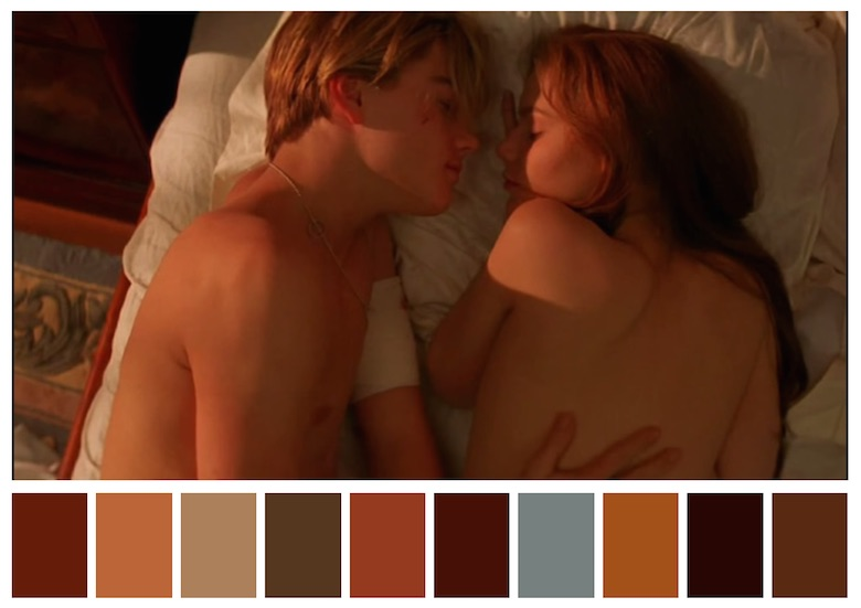 Cinema Palettes: Color palettes from famous movies - Romeo + Juliet