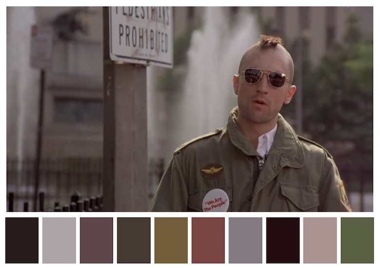 Cinema Palettes: Color palettes from famous movies - Taxi Driver