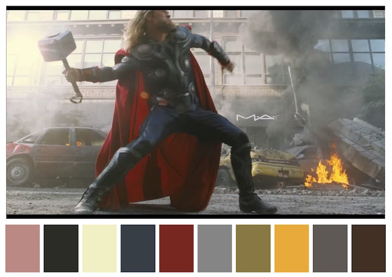 Cinema Palettes: Color palettes from famous movies - The Avengers
