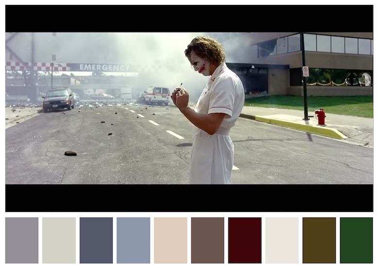 Cinema Palettes: Color palettes from famous movies - The Dark Knight