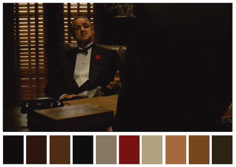 Cinema Palettes: Color palettes from famous movies - The Godfather