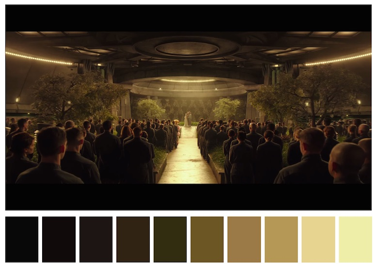 Cinema Palettes: Color palettes from famous movies - The Hunger Games - Mockingjay Part-2