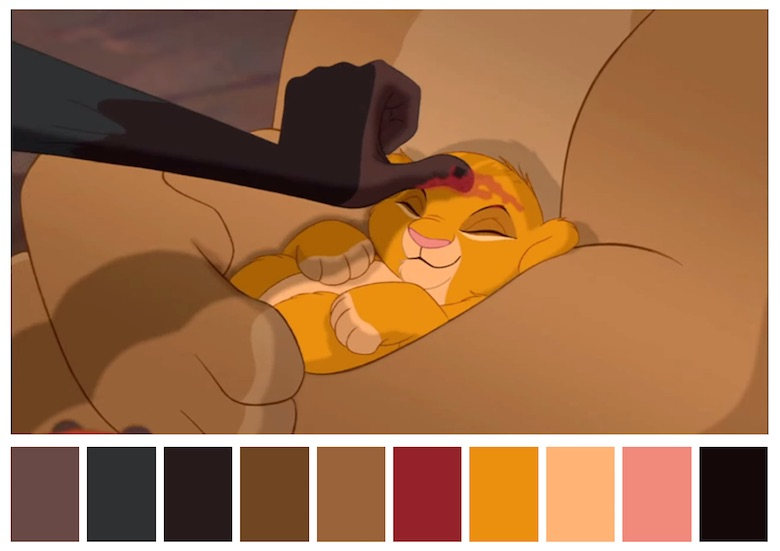 Cinema Palettes: Color palettes from famous movies - The Lion King