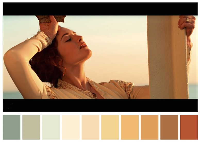 Cinema Palettes: Color palettes from famous movies - Titanic
