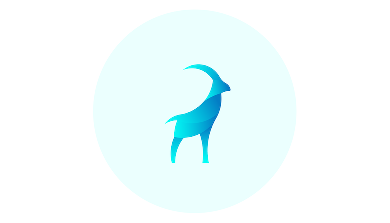 Colorful animal logos based on golden ratio - 12b