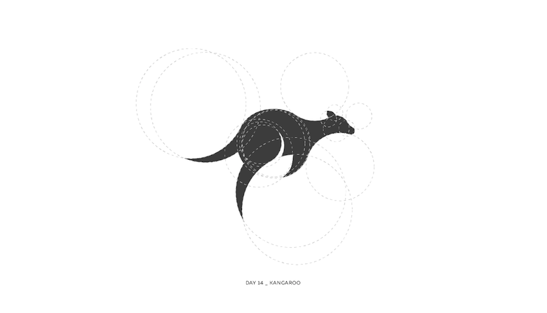 Colorful animal logos based on golden ratio - 14a