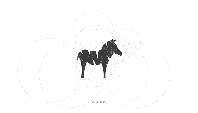 Colorful animal logos based on golden ratio - 15a