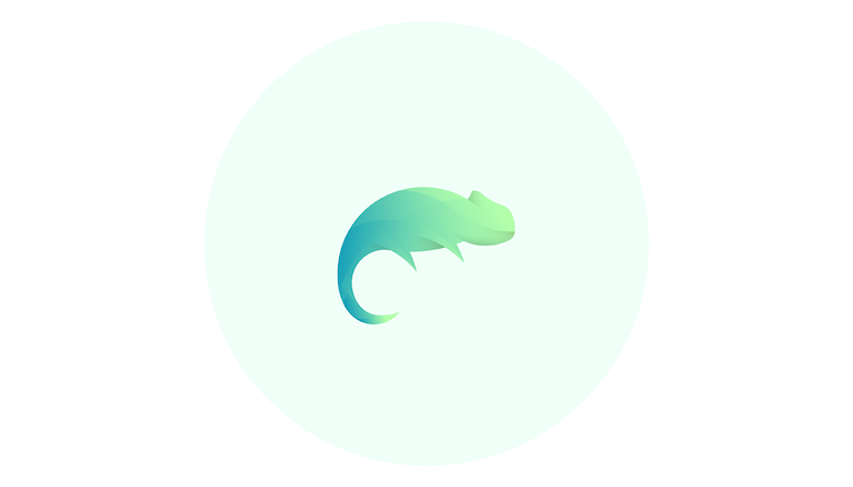 Colorful animal logos based on golden ratio - 17b