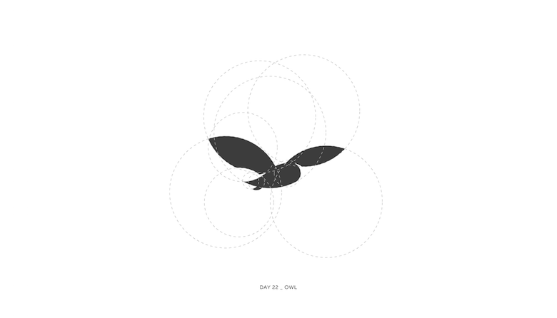 Colorful animal logos based on golden ratio - 22a