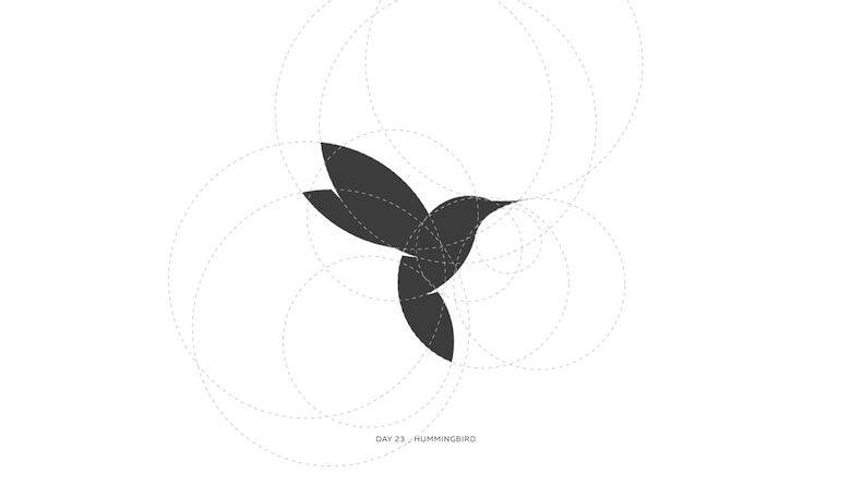 Colorful animal logos based on golden ratio - 23a