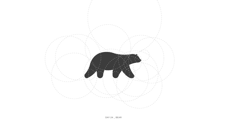 Colorful animal logos based on golden ratio - 24a