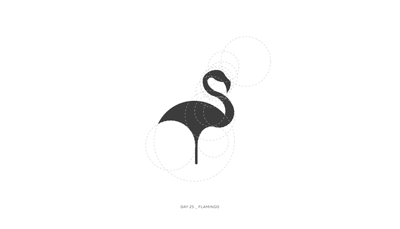 Colorful animal logos based on golden ratio - 25a