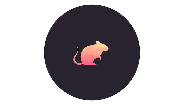 Colorful animal logos based on golden ratio - 26b