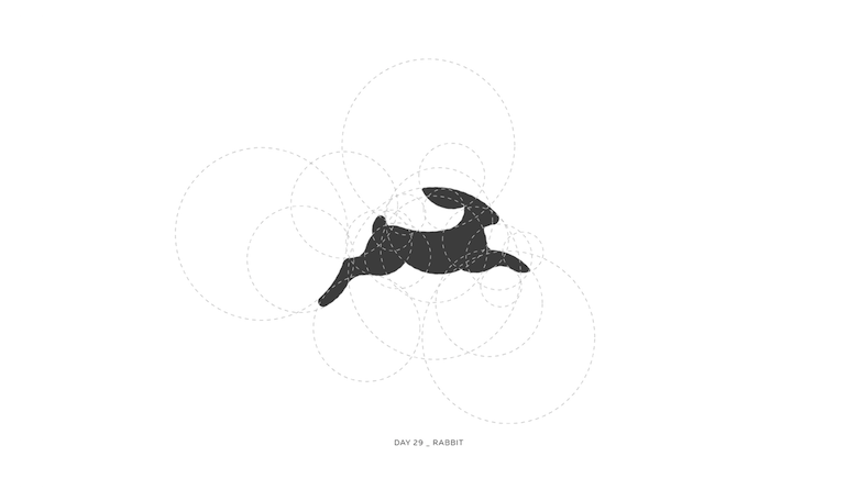 Colorful animal logos based on golden ratio - 29a