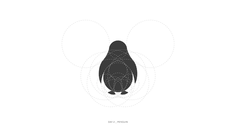 Colorful animal logos based on golden ratio - 2a
