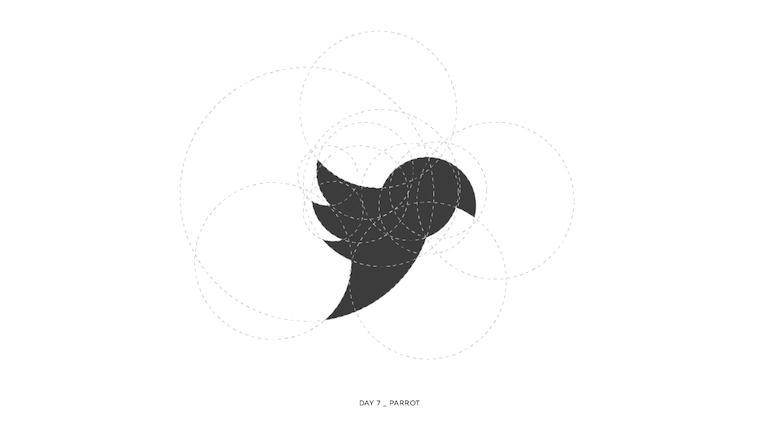 Colorful animal logos based on golden ratio - 7a