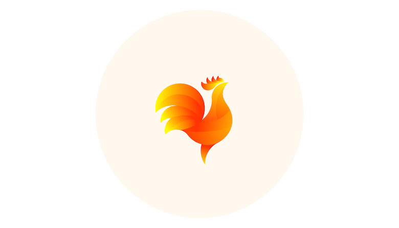 Colorful animal logos based on golden ratio - 9b