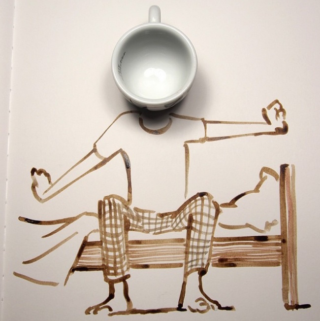Clever, creative drawings completed using everyday objects - 17