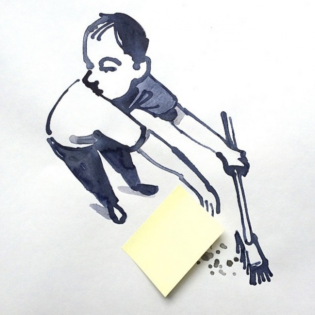 Clever, creative drawings completed using everyday objects - 27