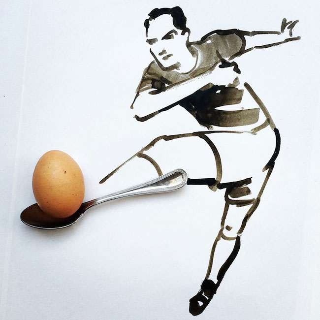 Clever, creative drawings completed using everyday objects - 28