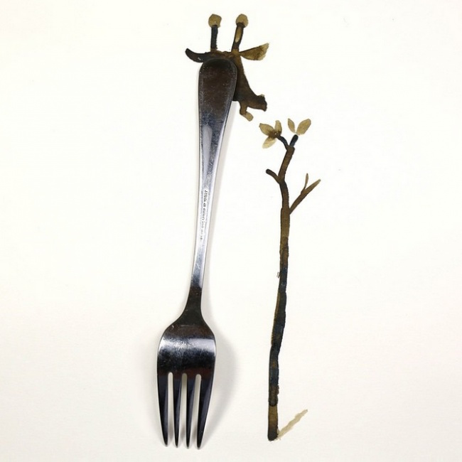Clever, creative drawings completed using everyday objects - 4