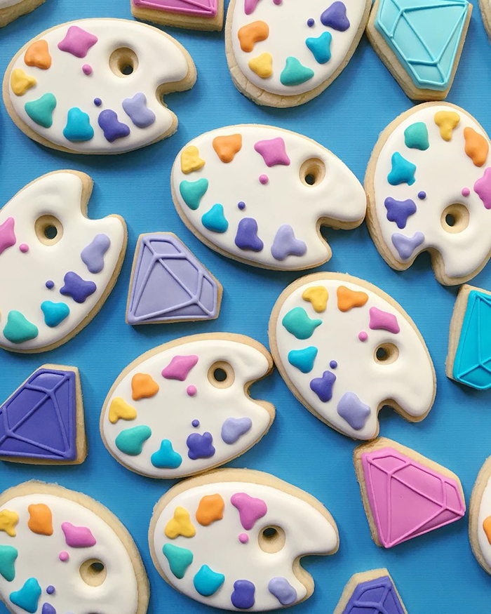 Graphic designer's creative custom cookies - 1