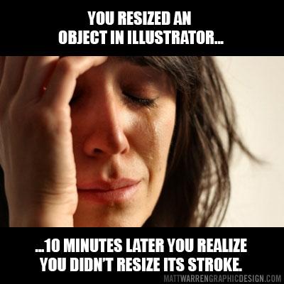 Designer & art director funny memes - Resize stroke