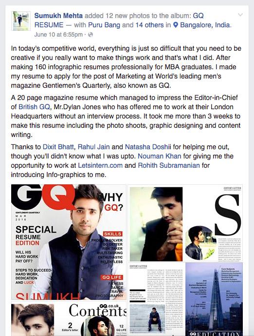 Sumukh Mehta - GQ Resume - Facebook