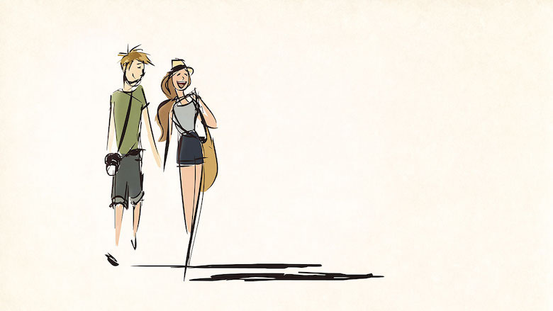 Husband & wife drawings / sketches / illustrations for 365 days - I don't want the summer to end