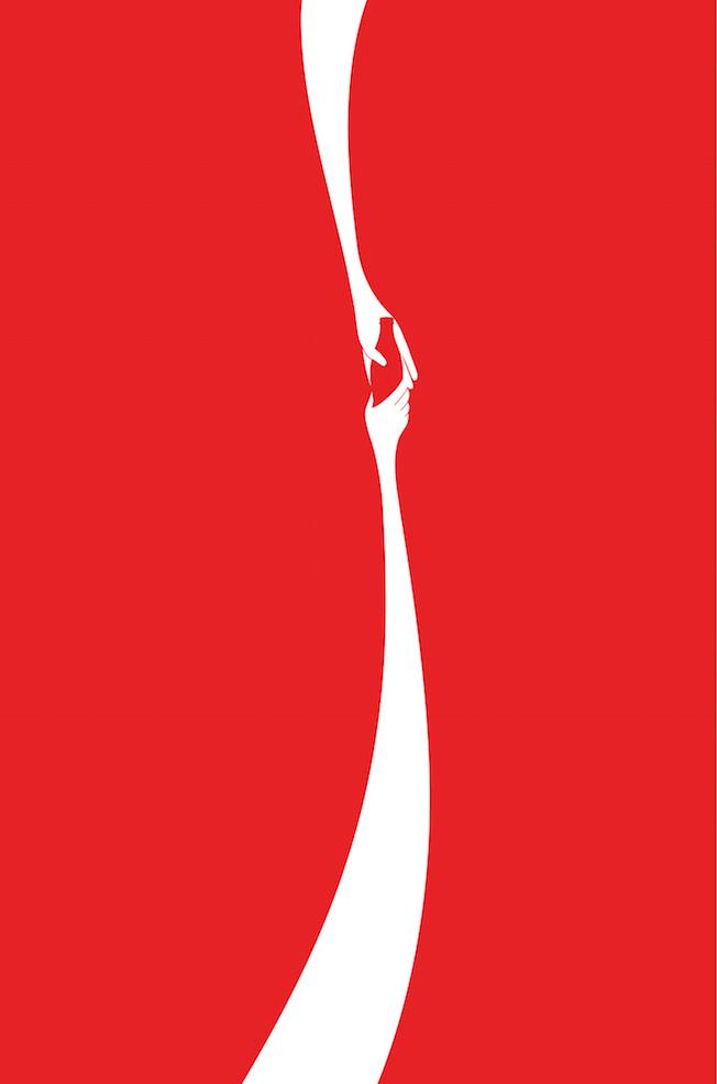 Negative space art / design / illustrations / ads - Coke: Hands