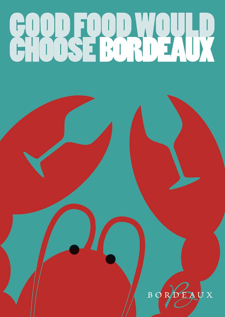 Negative space art / design / illustrations / ads - Bordeaux Wine (1)