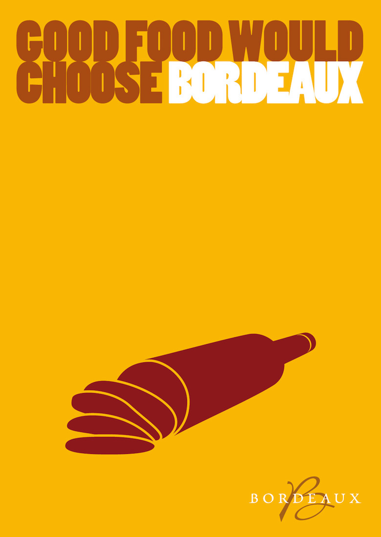 Negative space art / design / illustrations / ads - Bordeaux Wine (2)