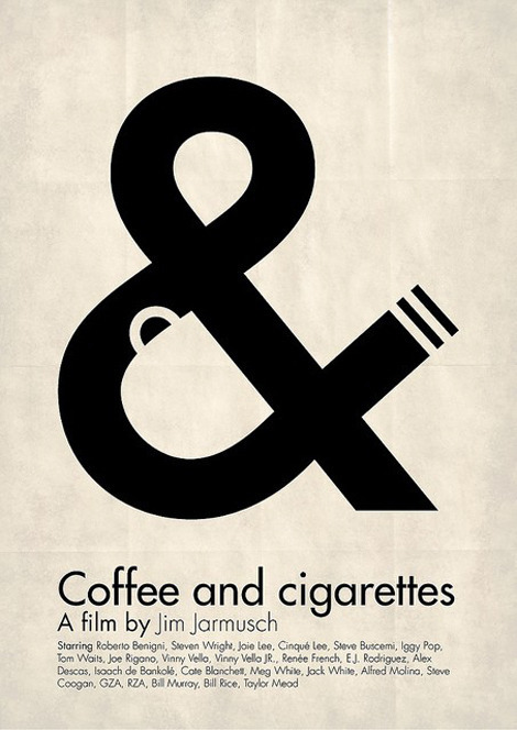 Negative space art / design / illustrations / ads - Coffee & Cigarettes