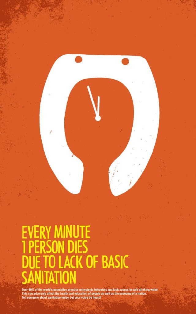 Negative space art / design / illustrations / ads - World Sanitation (1)