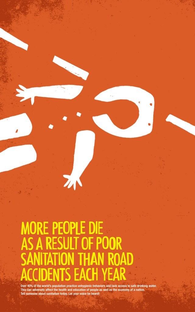 Negative space art / design / illustrations / ads - World Sanitation (2)