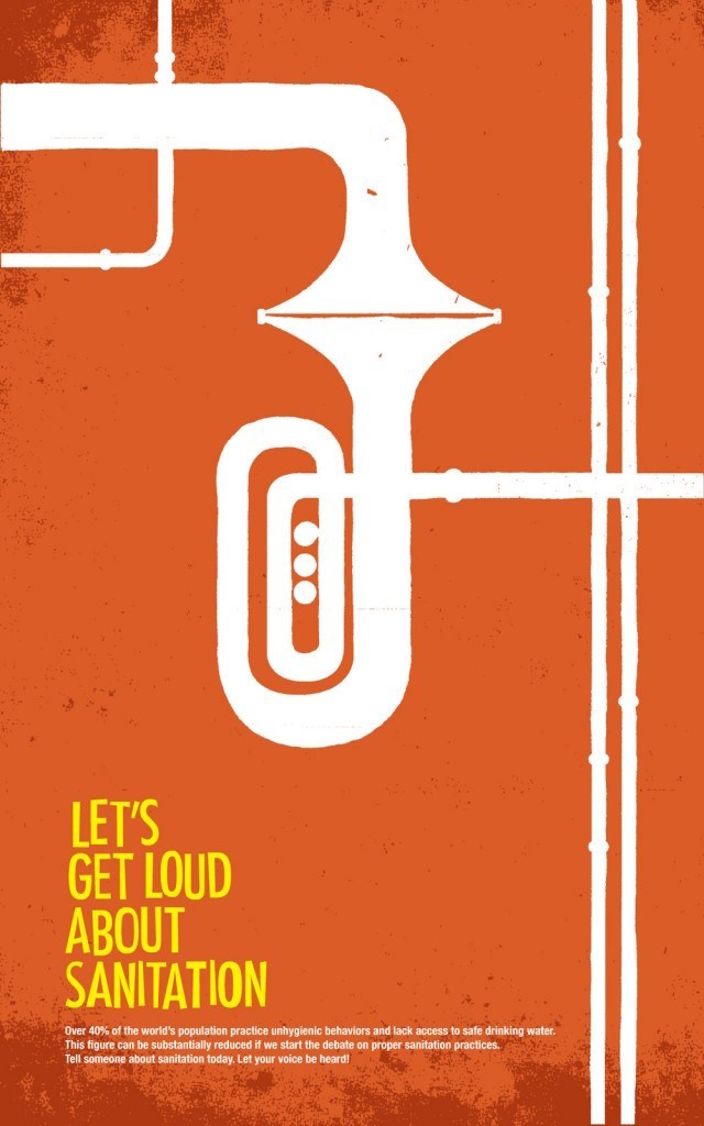 Negative space art / design / illustrations / ads - World Sanitation (3)