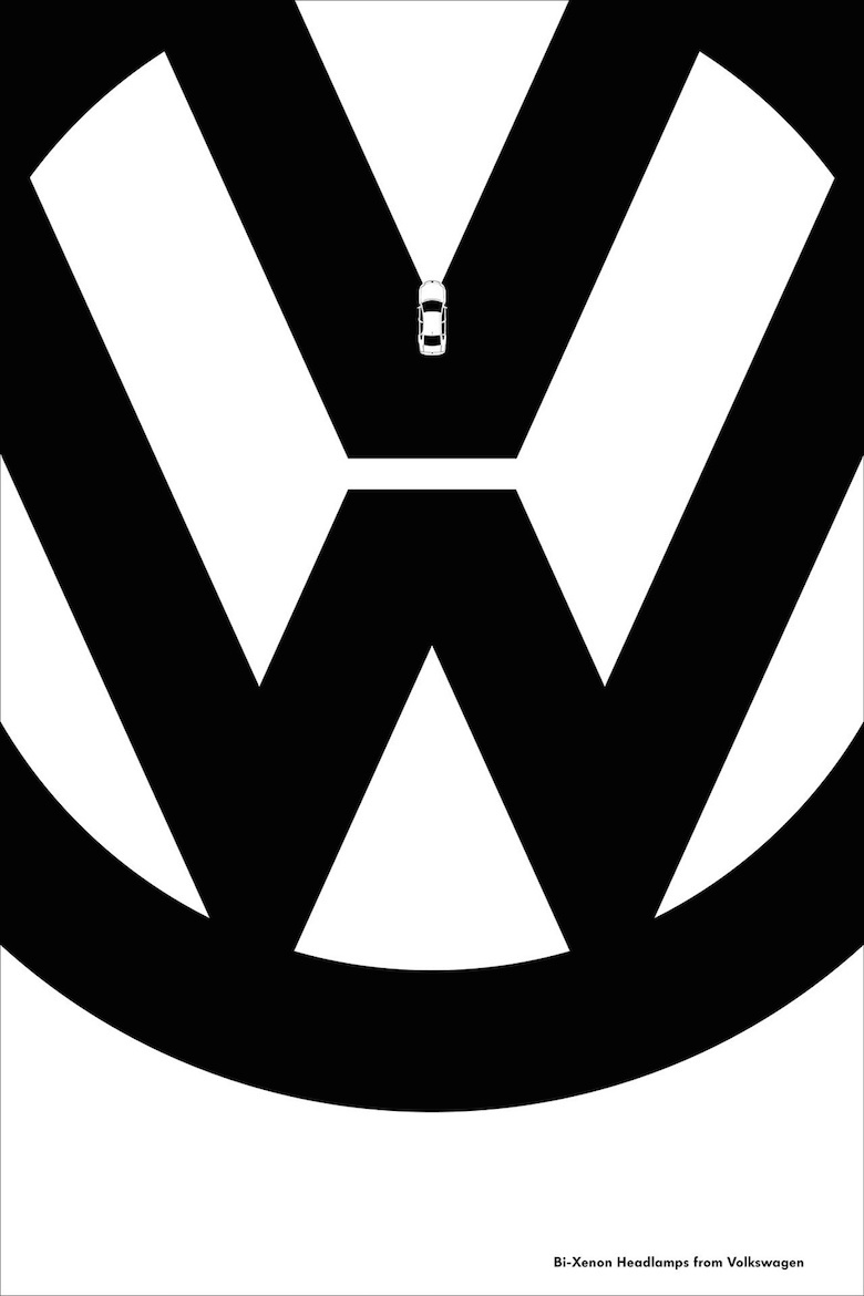 Negative space art / design / illustrations / ads - Volkswagen: Features (2)