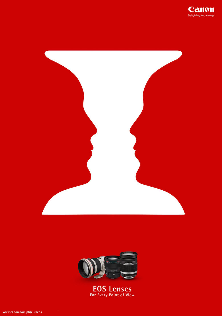 Negative space art / design / illustrations / ads - Canon: Point of View (1)