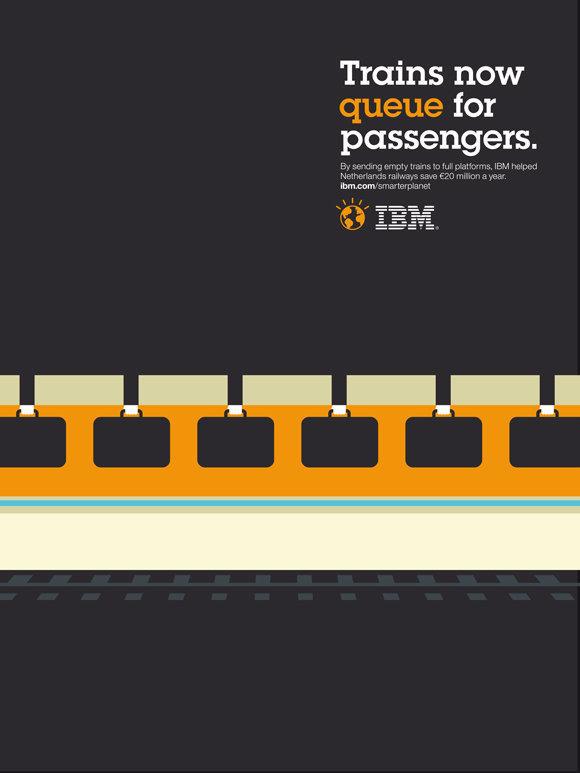 Negative space art / design / illustrations / ads - IBM: Smarter Planet (1)