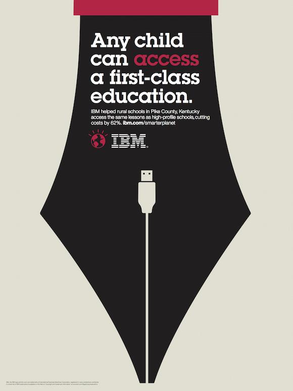 Negative space art / design / illustrations / ads - IBM: Smarter Planet (2)