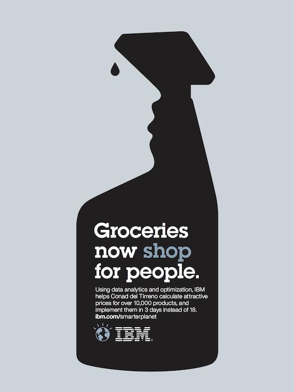 Negative space art / design / illustrations / ads - IBM: Smarter Planet (3)