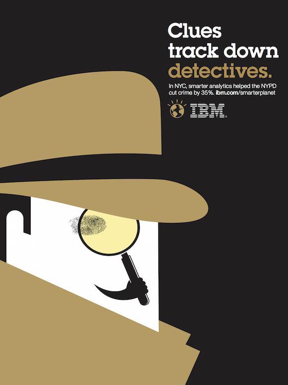 Negative space art / design / illustrations / ads - IBM: Smarter Planet (5)