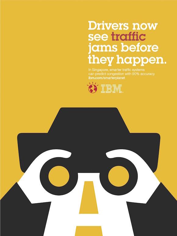 Negative space art / design / illustrations / ads - IBM: Smarter Planet (6)